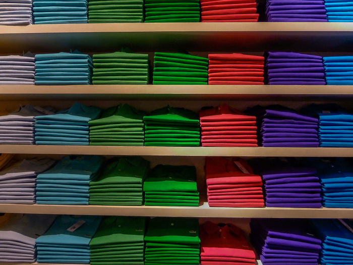 Backgrounds Indoors  Multi Colored Order Retail  Side By Side Stack Textile