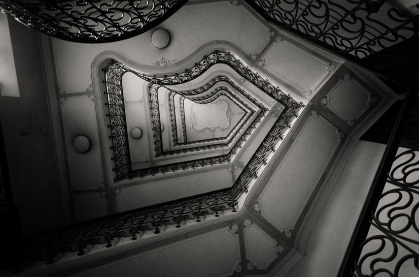 Architecture Black & White Black And White Black And White Collection  Black And White Photography Black&white Blackandwhite Blackandwhite Photography Blackandwhitephotography Blacknwhite Blackwhite Built Structure Decoration Indoors  Metal Ornate Staircase Staircase Vertigo Staircases Stairs Stairs_collection The Architect - 2016 EyeEm Awards