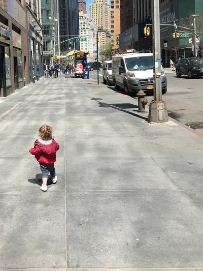 City Street Childhood Architecture Transportation Full Length Women