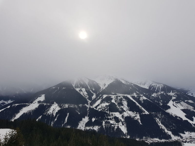 Das Dessous der Berge! Hinterglemm Austria Snow Mountain Winter Cold Temperature Forest No People Landscape