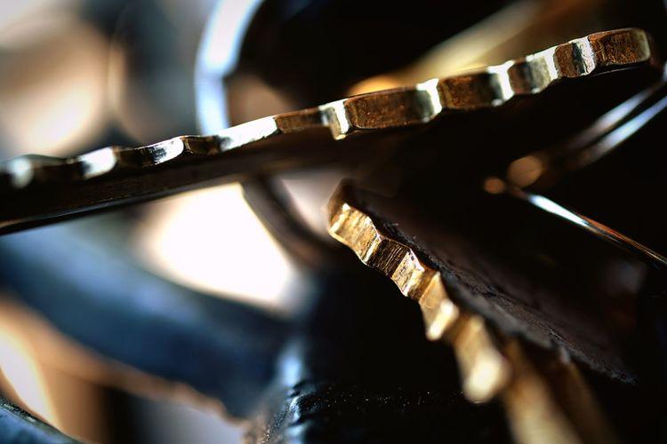 Extreme close-up of keys