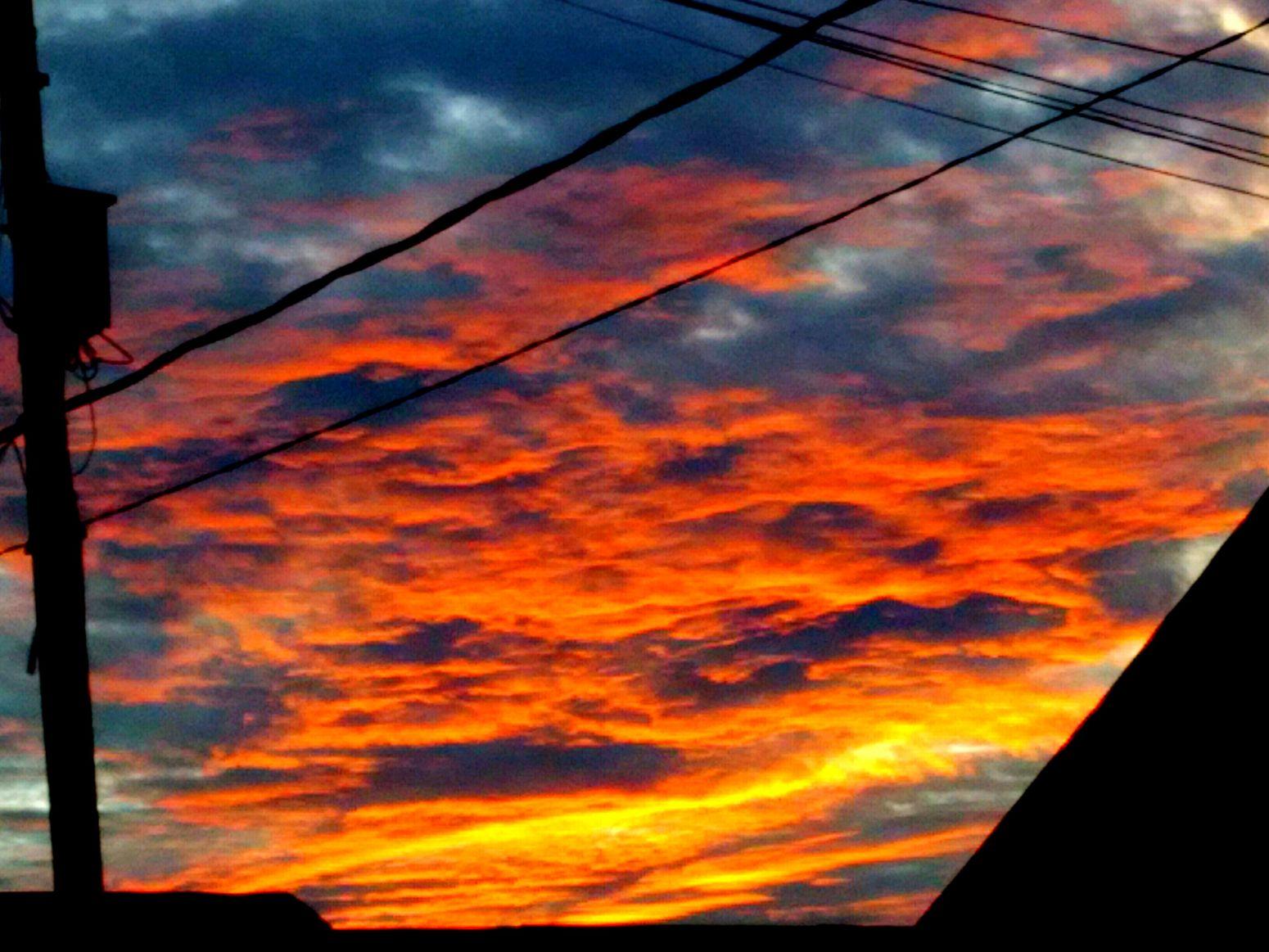 Orange Sky Dramatic Sky