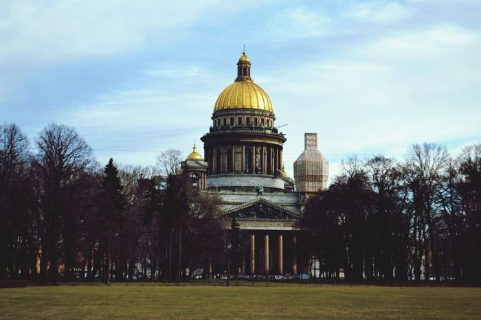Saintpetersburg Saint Isaac's Cathedral Russia People Watching