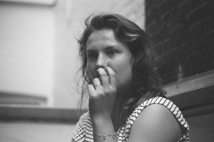 Put a sig in it Smoking Woman Portrait Cigarette  Analog Analogue Analogue Photography
