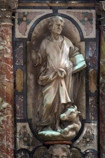 St.Luke the Evangelist, pulpit in Zagreb cathedral Art Bible Carving - Craft Product Creativity Croatia Evangelist Faith Holy Luke Pulpit Religion Saint Sculpture Spirituality Statue Worship Zagreb