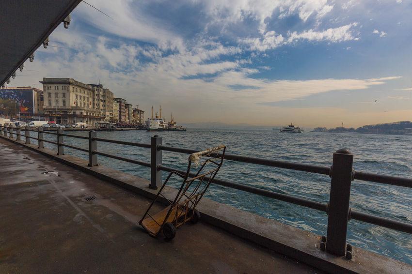 Bosporus Brunette Holiday Istanbul Lucht Reizen Turkije Wolken