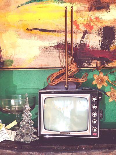 Vintage Retro Interior Design Television Set Retro Styled Indoors  Technology Old Frame Close-up Picture Frame