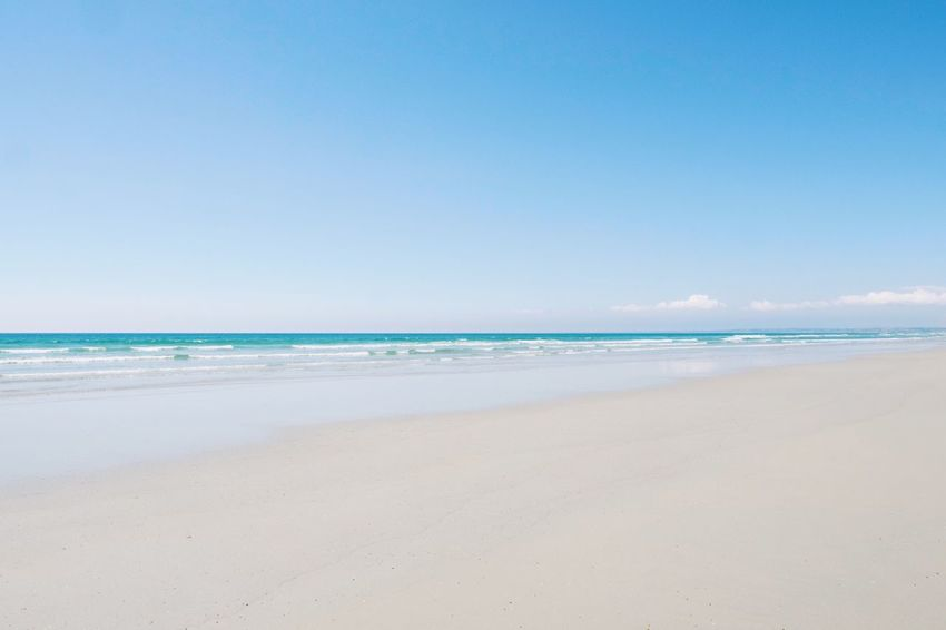 Sea Beach Sky Water Land Horizon Over Water Scenics - Nature Beauty In Nature Sand Horizon Tranquility Tranquil Scene Nature Motion Blue Wave Idyllic Copy Space No People Outdoors Vacations Holiday