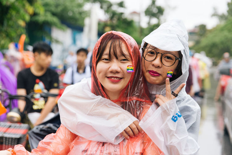 At the 4th Vietnam LGBT Pride, people gathered to join the bike rally as part of Viet Pride March in the rain in Hanoi. Bike Rally EyeEm Vietnam Hanoi Lgbt LGBT Parade Lgbt Pride Photojournalism Queer Telling Stories Differently Viet Pride Vietnam VietPride LGBTQ Rights Youth Of Today My Favorite Photo The Photojournalist - 2016 EyeEm Awards The Portraitist - 2016 EyeEm Awards Girl Power Girl Power – Featured Images EyeEm Diversity This Is Queer