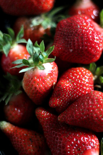 Food And Drink Freshness Healthy Eating Juicy Red Strawberry