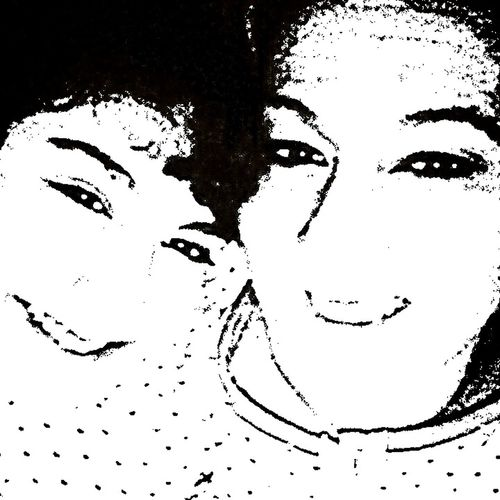 Experimenting With Grafic Effects Experimenting Photo Grafic Effects Mother&daughter Smiling Faces