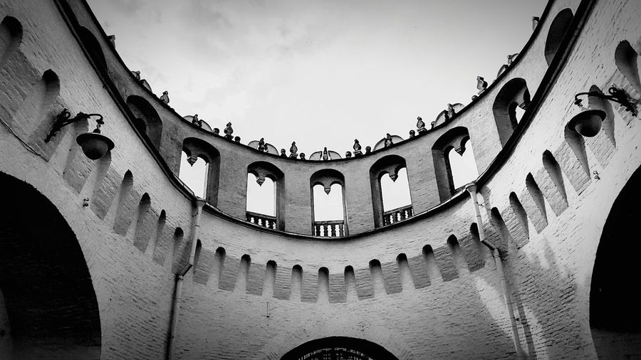 Architecture Low Angle View Arch History No People Built Structure Outdoors Day Sky Moscow Russia Kremlin Architecture Russia Travel Black White Blackandwhite Building Round