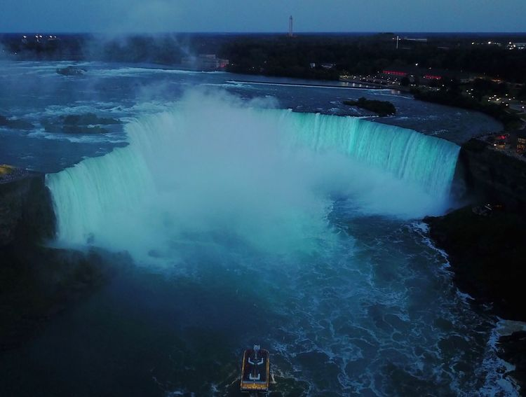 The Week On EyeEm Dronephotography Motion Beauty In Nature Water Outdoors Travel Destinations Scenics Long Exposure Aerial View DJI Mavic Pro Niagara Falls Aerial Shot