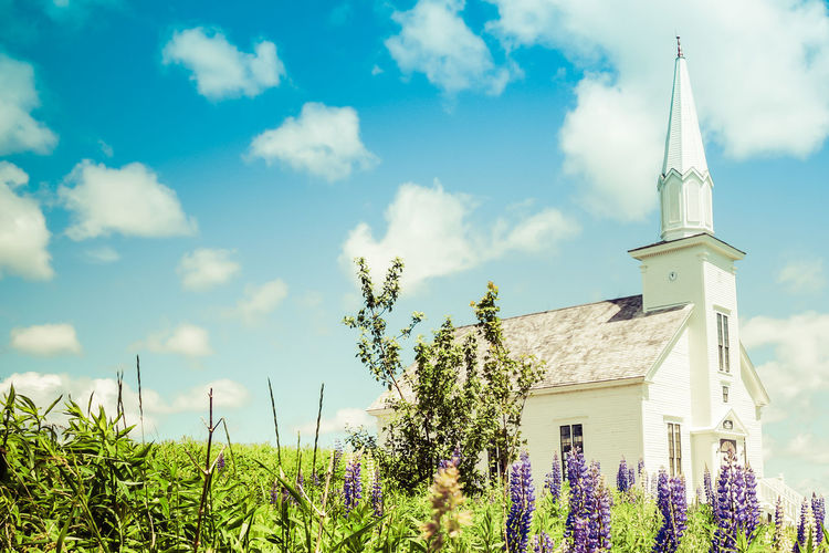 Architecture Building Exterior Built Structure Church Church Buildings Churches Clock Cloud - Sky Day Flower History Landscape Nature No People Outdoors Place Of Worship Religion Sky Travel Destinations