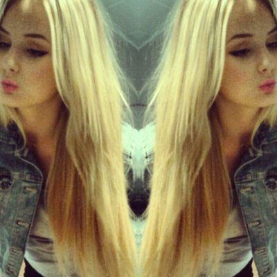 Photomirror Klarka Krat Dva 2x  Czech Blond Girl Funny Love Crazy Pink Jeans Blue