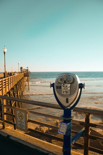 Oceanside Beach Beachphotography California Losangeles Pier Oceansidepier Coastline PCH Goldenstate Coin Operated Sea Coin-operated Binoculars Water Horizon Over Water Scenics Clear Sky Outdoors Tranquility Day Sky Hand-held Telescope Beauty In Nature Nature No People Close-up EyeEmNewHere
