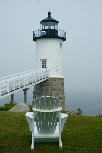 Adirondack Chairs Architecture Day Lighthouse No People Outdoors Sea Water
