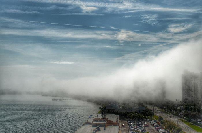 Sea fog. Clearwater Beach, Florida. Nikon Sky Cloudporn Florida