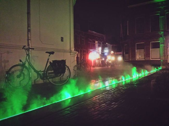 Street light art in DownTown Utrecht Night Lights Taking Photos Hanging Out Getting Inspired Netherlands City Lights Domplein Domplatz Domsquare