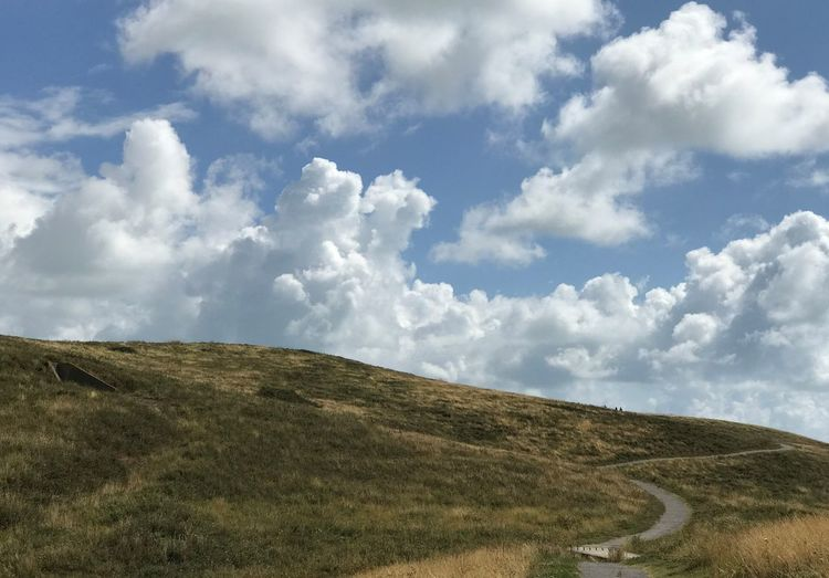 Beauty In Nature Cloud - Sky Day Environment Field Grass Hill Horizon Horizon Over Land Land Landscape Nature No People Non-urban Scene Outdoors Plant Rolling Landscape Scenics - Nature Sky Tranquil Scene Tranquility