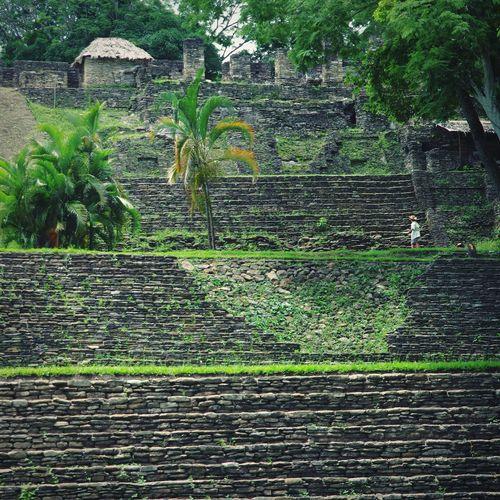 Tonina, Chiapas - 4 of 7 levels - highest Mayan pyramid in Mexico - 74m Built Structure Architecture Chiapas Travel Spring Break 2017 Maya Ruins Tonina, Chiapas Archaeology Tourism Mexico Maya Travel Destinations Ancient Civilization Mayan Ruins Ancient Outdoors Mayan Riviera Nature History Architecture Jungle Trips