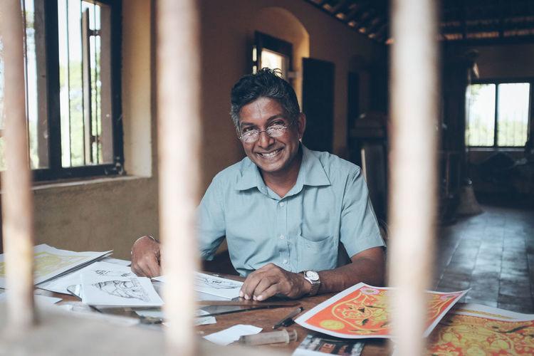 Artist Drawing Portrait Portrait Photography Smiling Sri Lanka Temple Travel Photography