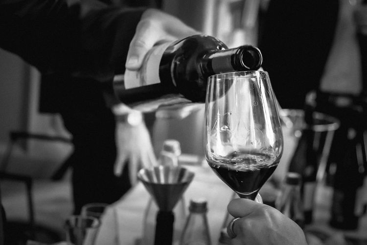 Alcohol Blackandwhite Bottle Close-up Day Drink Drinking Glass Focus On Foreground Food And Drink Freshness Holding Human Body Part Human Hand Indoors  Men One Person People Real People Refreshment Wine Wine Not Wineglass Winetasting Black And White Friday