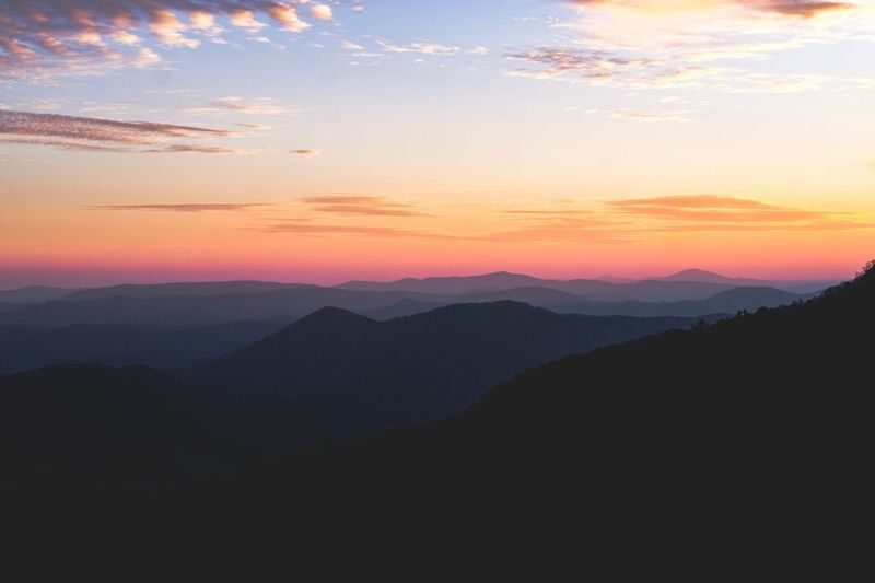 Black Rock Mountain State Park Instagood Tennessee Smoky Mountains Sunrise Fujifilm Mountain Range Sunset_collection Sunset Mountain Mountain Sunset Scenics - Nature Beauty In Nature Sky Mountain Range Landscape Nature Outdoors Tranquility