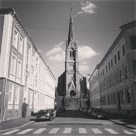 Fagerborg Kirke Horizon Architecture Oslo Frogner Majorstuen Blackandwhite Photography @oslobilder