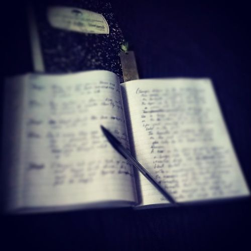 Continuing with the collab project. Music, Pen & Paper... all you really need. Enjoying writing again, makes a difference that ive had two years worth of inspiration during the time out from this. Good to be back. Writing New Project Pod collaboration graphic novel back pen paper music umbrellaacademy notebook