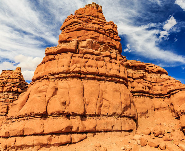 Desert Rock formations in the American Southwest Desert Goblin Valley State Park, Utah Red Rock Formation American Southwest Arid Climate Blue Sky Desert Landscape Outdoors Travel Destinations
