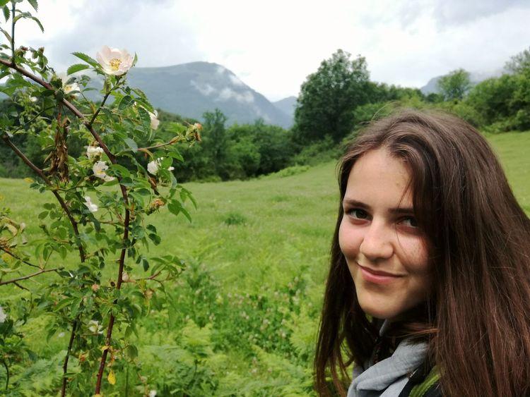 Beautiful Girl Nature Bulgaria Green Top Destination Tourism Mountain Botev Huawei P9 Lite On The Way