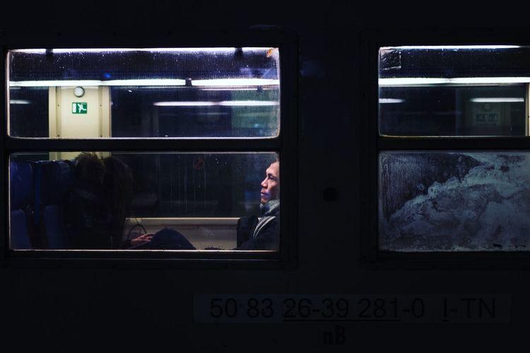 Solitary train Alone Dark Loneliness Behindtheglass  Night Streetphotography Train Windows The Week On EyeEm Editor's Picks Visual Creativity