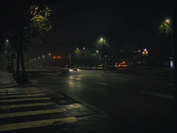 Night Night Photography Road Seoul Fog