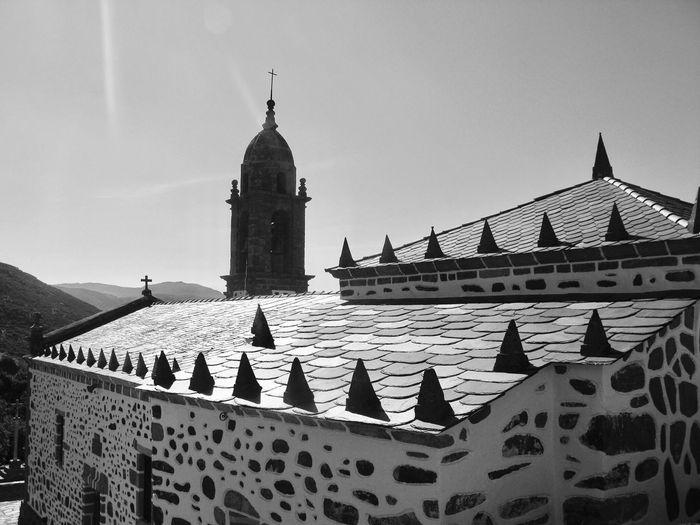 San Andres De Teixido Church Against Sky On Sunny Day
