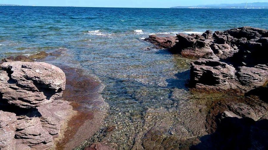 Water Sea Beach Wave Sand Rock - Object Sky Horizon Over Water