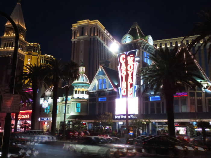 Architecture Building Exterior City Illuminated Las Vegas Midnight Neon Night Nightlife Travel Destinations