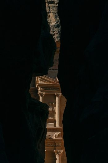 The Treasury Khazneh Petra Jordan EyeEm Selects Built Structure Architecture History The Past Building Exterior Night Ancient