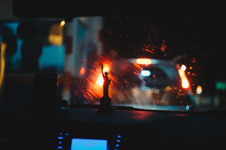 Saigon, April. Red Burning Car Fire Fire - Natural Phenomenon Glass - Material Hoang Ann Indoors  Mode Of Transportation Night Week On Eyeem