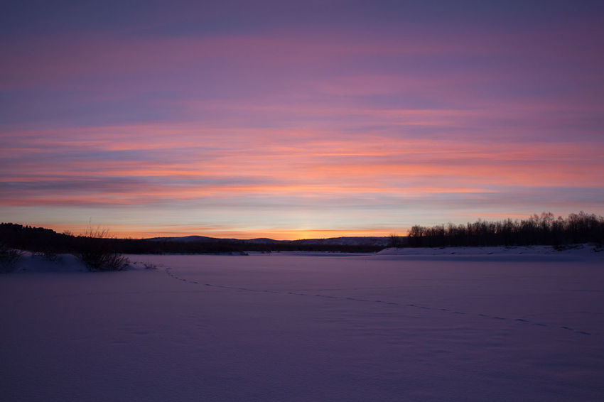 Arctic Beauty In Nature Cold Temperature Finland Idyllic Landscape Lapland Lapland, Finland Nature No People Non-urban Scene Outdoors Polar Night Remote Scenics Season  Sky Snow Snow Covered Sunset Tranquil Scene Tranquility Weather Winter