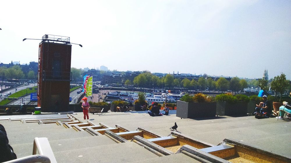 Amsterdam Nemo Museum Street View City Panoramic View River Boats Amsterdamcity