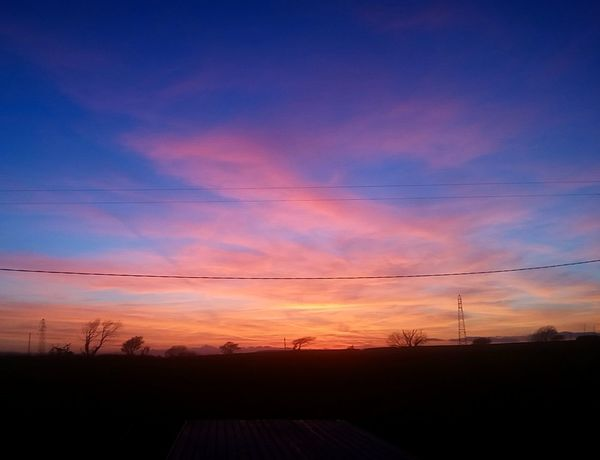 Sunset Blue Sky Colourful Beauty Nature Clouds Red Orange Deepblue Home Sky England Devon South Hams Skyporn Colour Of Life