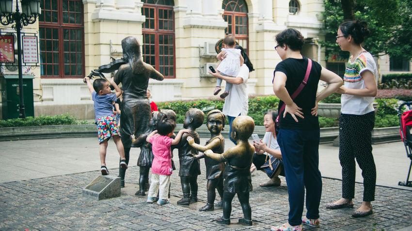 Children China Documentary Documentary Photography Guangzhou Interesting Outdoors Sculpture Shantou