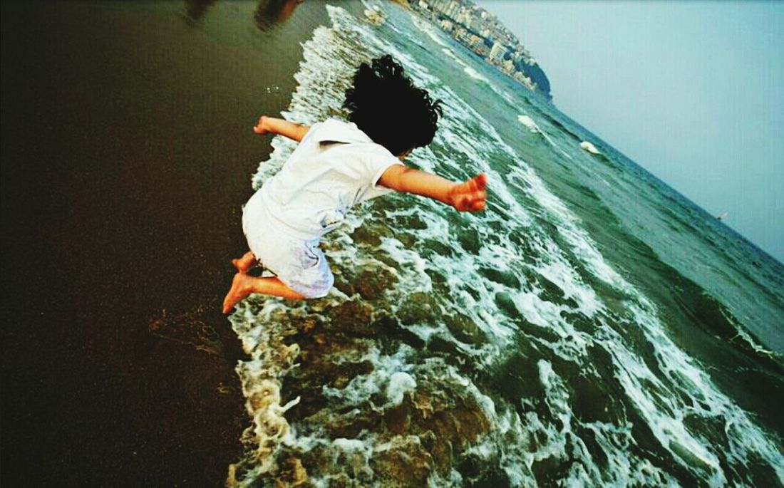 Beach Jumping Last Summer Wide Angle @korea pusan haewoondae @Panasonic GF1 / 7-14mm f4.0