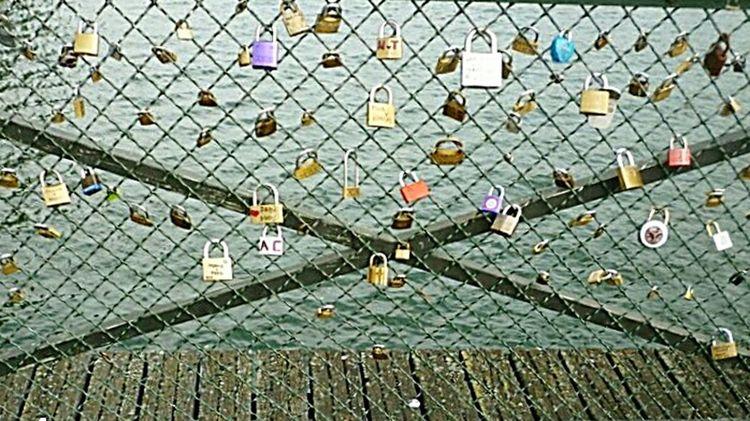 2011 Souvenirs deParis Paris, France  Le Pont Des Arts Protection Outdoors Day Multi Colored No People Nature Locks Love Locks Bridge