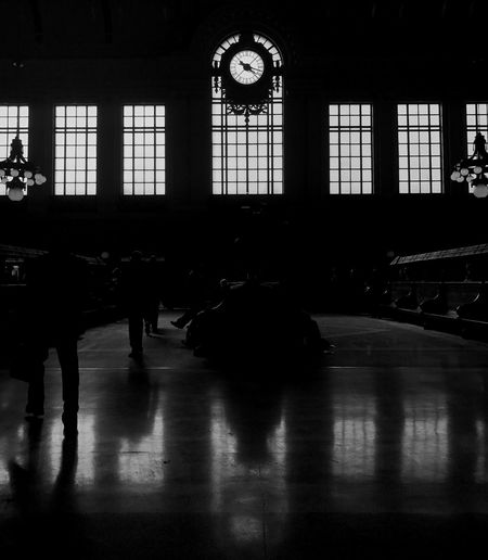 Indoors  Clock Window Architecture Reflection City Blackandwhite TheMinimals (less Edit Juxt Photography) Transportation Public Transportation Light Light And Shadow