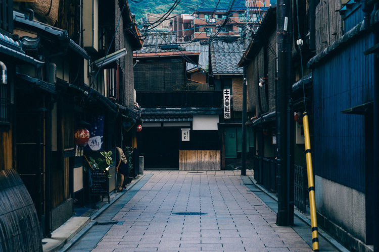 Alley Alleyway Antique Architecture ASIA Asian  Building Exterior Built Structure Culture House Houses Japan Japanese  Japnesese Building Kyoto Old Oriental Place Region Scene Street Tourism Town Traditional Travel Destinations
