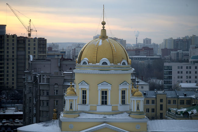 Ekaterinburg Russia Architecture Building Exterior Built Structure City Cold Temperature Day Dome Ekaterinburg_foto Ekaterinburgcity Nature No People Outdoors Place Of Worship Religion Sky Snow Spirituality Sunset Winter