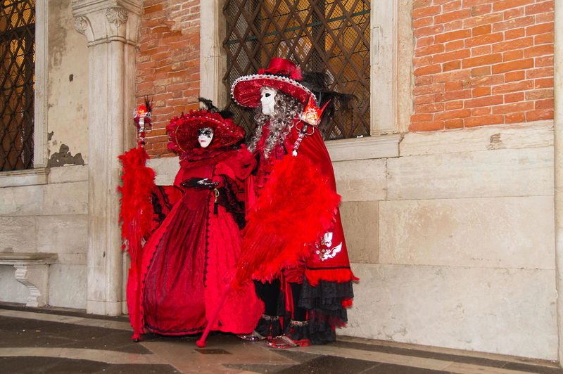Carnival in Venice Woman Architecture Arts Culture And Entertainment Building Exterior Built Structure Carnival Carnival - Celebration Event Celebration Costume Cultures Dancer Day Disguise Leisure Activity Lifestyles Mask - Disguise Men Outdoors Performance Performing Arts Event Real People Red Stage Costume Tradition Two People The Street Photographer - 2018 EyeEm Awards The Portraitist - 2018 EyeEm Awards