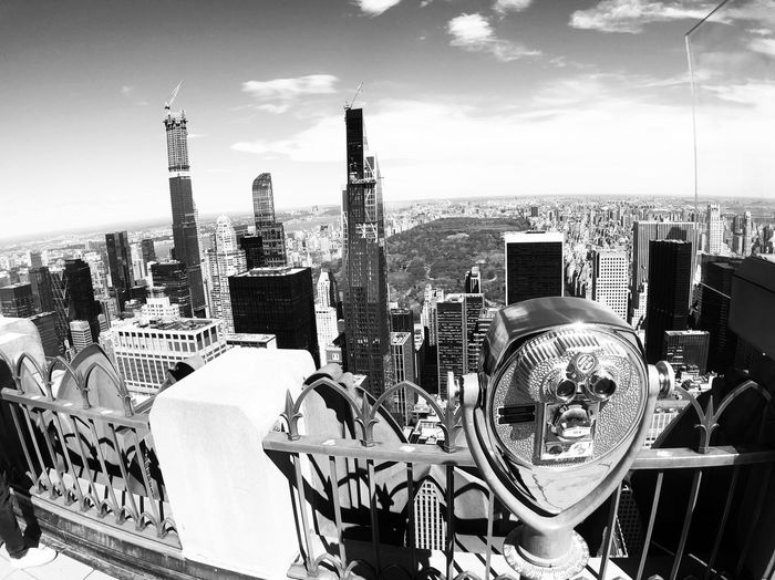 Top of the rock #newyork Blackandwhite Top Of The Rock New York City New York Sky Architecture Built Structure Day Cloud - Sky Nature No People